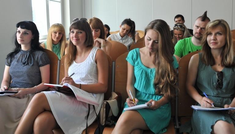 Studenci na wykladzie